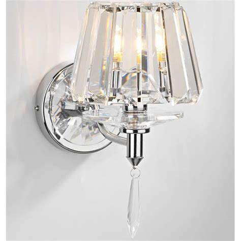 crystal wall lights with crystal glass shade and crystal