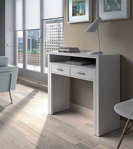 Bureau Console Extensible : bureau console alicia blanc brillant ~ Teatrodelosmanantiales.com Idées de Décoration
