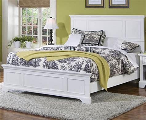 amazoncom naples white queen bed  home styles kitchen