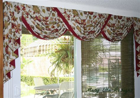 lovely floral scarf valance as patio door window
