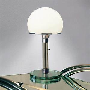 Lampe Mit Glasfuß : mit glasfu gestaltete wagenfeld tischlampe ~ Indierocktalk.com Haus und Dekorationen