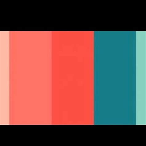 Coral & Turquoise Color Scheme  House Spring Decor