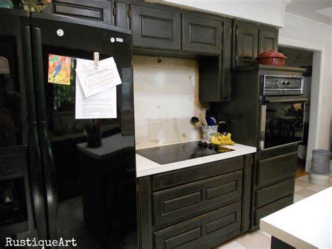 Annie Sloan Graphite Kitchen Cabinets
