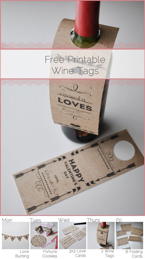 daily inspiritment  printable valentine wine bottle