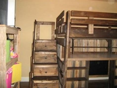 loft bed plans  dresser  woodworking