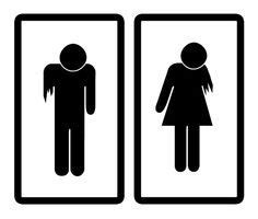His And Hers Bathroom Signs by Spooky Restroom Signs That Will Scare The Out Of You