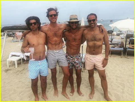 armie hammer swimsuit armie hammer bares beach body in st tropez with wife