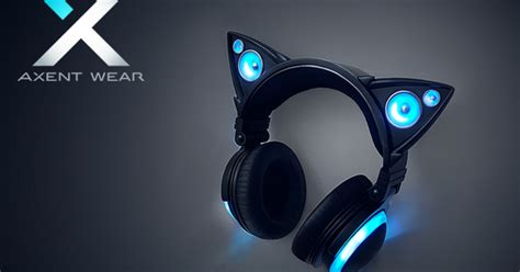 headphones with light up cat ears axent wear cat ear headphones indiegogo