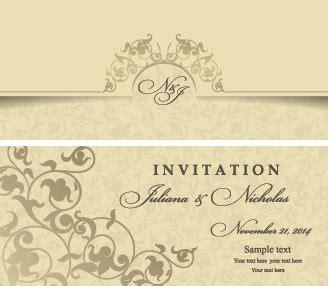 Editable wedding invitations free vector download (4 034