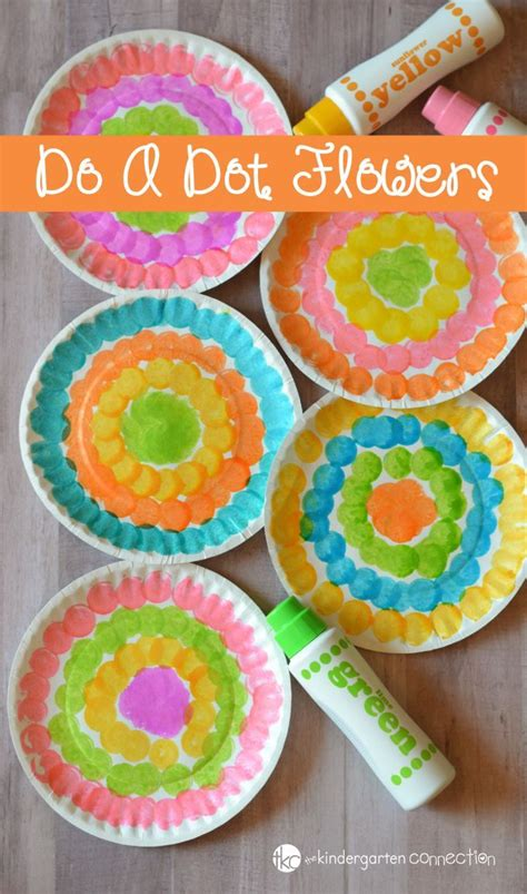 dot flower craft  kids preschool spring craft