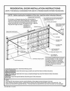 Residential Door Installation Instructions