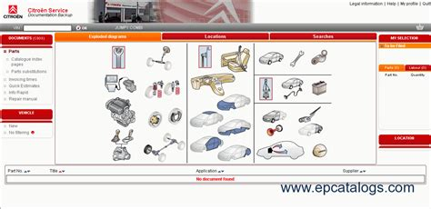 Ds3 Wiring Diagram by Citroen Spare Parts Catalog Book Repair Manual