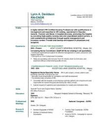 Resume For Nursing by Nursing Resume Templates Easyjob Easyjob