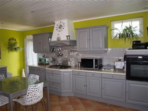 cuisine vert anis et gris chantier déco cuisine vert anis et gris