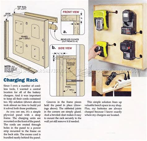 cordless tool charging station plans woodarchivist