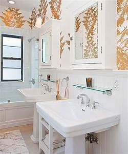 Brooklyn Home Company : gold walls contemporary bathroom the brooklyn home company ~ Markanthonyermac.com Haus und Dekorationen