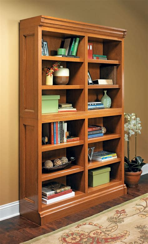 modular bookcase woodworking project woodsmith plans