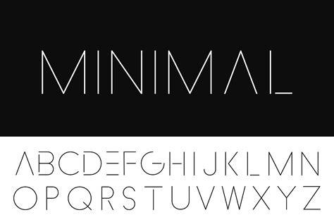 minimalistic alphabet thin design
