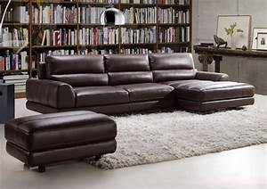 Elegant and comfortable espresso sectional in italian made for Genuine italian leather sectional sofa