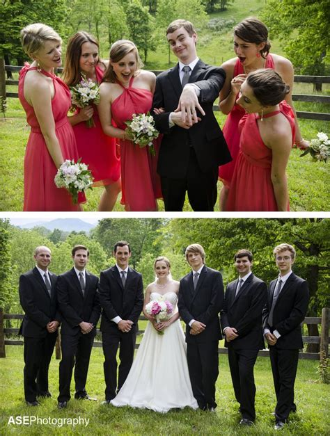 Funny Wedding Photography Bridesmaids With Groom And