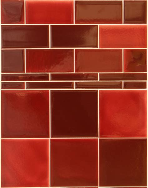 Victorian Dark Red Wall Tiles