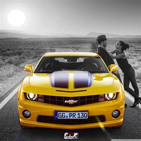 Kiss On Yellow Camaro 4k Hd Desktop Wallpaper For 4k Ultra