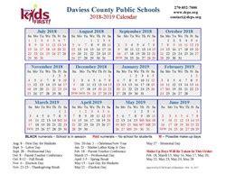 dcps calendar daviess county public schools
