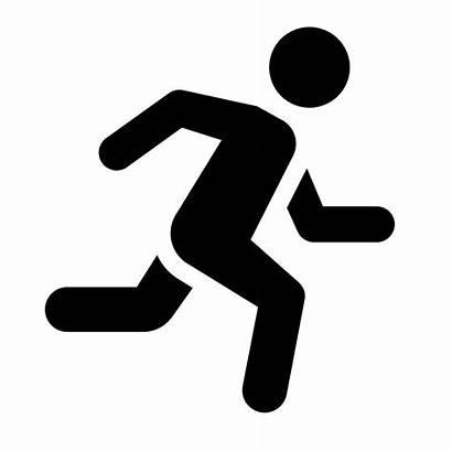 Running Icon Jogging Clip Person Clipart Icons