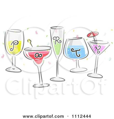 vintage cocktail party clipart royalty free stock illustrations of cocktails by bnp