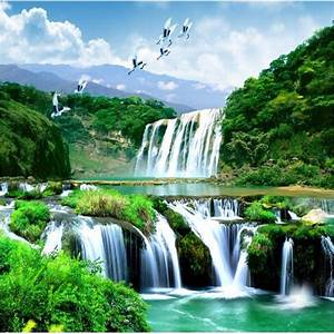 Beibehang HD custom any size photo wallpaper 3d waterfall ...