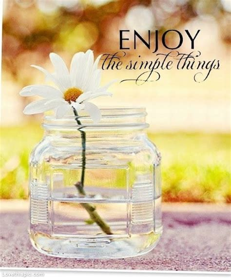 Awesome Enjoy The Simple Things In Life Quote