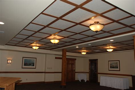 Suspended Wood Ceiling woodgrid 174 coffered ceilings by midwestern wood products co