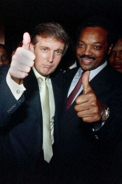 trump jackson donald jesse rappers racist jr qanon sharpton al before he friends african rev father july charges uses dad