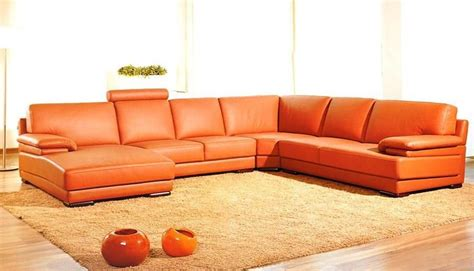 real leather sectional adjustable advanced half sectional upholstered in real