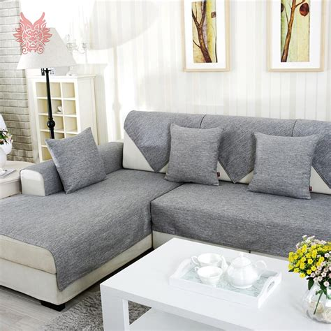 sectional slipcovers aliexpress com buy grey melange sofa cover slipcovers