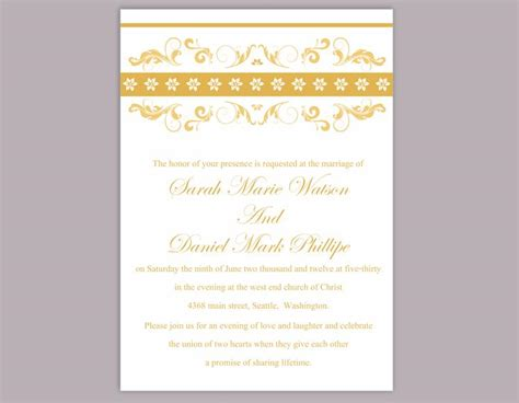 editable wedding invitation diy wedding invitation template editable word file instant printable invitation floral