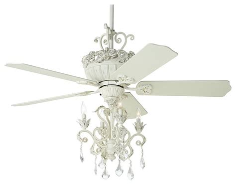 52 quot casa chic antique white chandelier ceiling fan