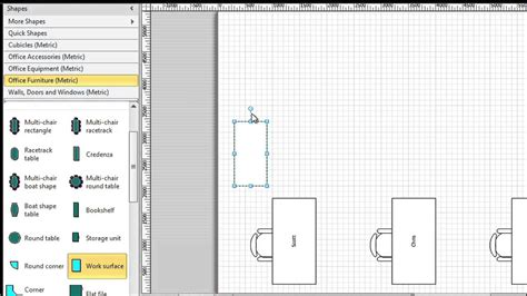 Office Desk Visio Stencils by Getting Started With Visio 03 Shapes In Visio 2010