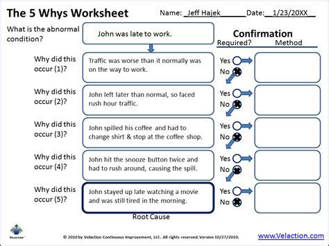 5 Whys Worksheet. Worksheets. Tutsstar Thousands Of