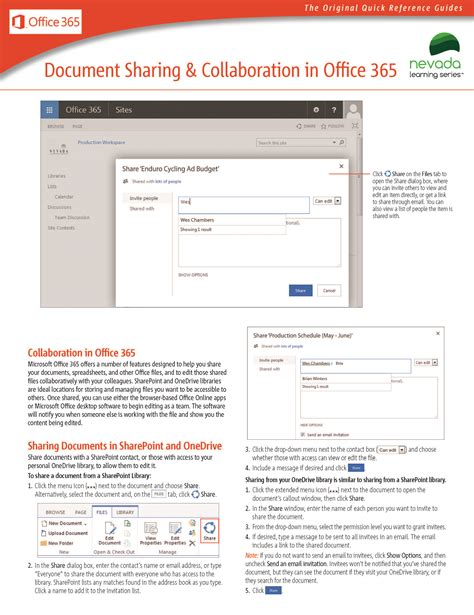 Office 365 Reference Guide by Reference Guides Office 365 Nevada Learning