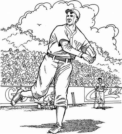 Coloring Pages Baseball Field Printable Adults Stadium