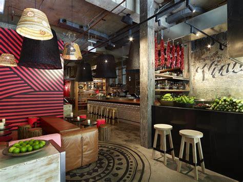 restaurant bar design ideas rustic restaurant design ideas with unique ceiling light Rustic