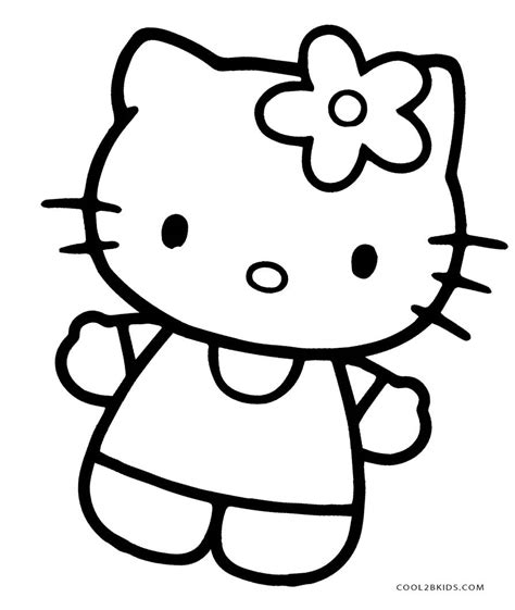 printable  kitty coloring pages  pages