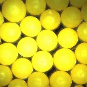 Yellow Polyethylene Microspheres Polymer Beads Particles