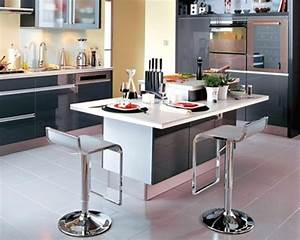 Ilot Cuisine Table : cuisine avec ilot central et table ~ Teatrodelosmanantiales.com Idées de Décoration