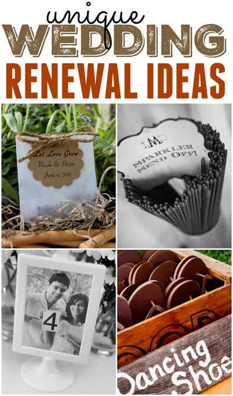 unique wedding renewal ideas