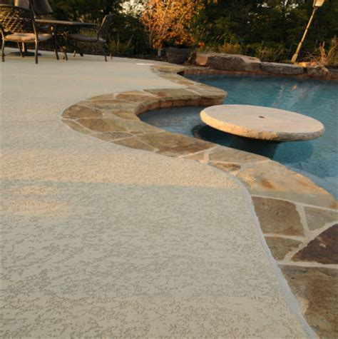 pool deck resurfacing options pool deck ideas st louis mo decorative concrete resurfacing