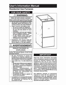Residential Gas Furnaces Manuals