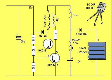 Regulated Solar Cell Power Supply Schematic Design