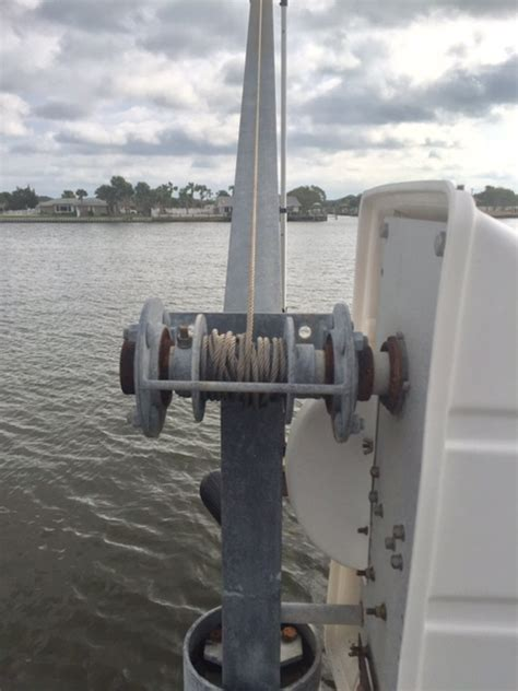davit ace piling electric mount 2000 lbs parts attachment todd